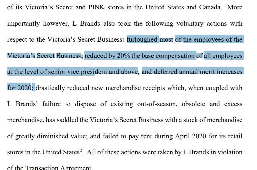 test ツイッターメディア - April: Sycamore accuses L Brands of violating ordinary course covenant by firing workers June: Simon Property accuses Taubman Centers of violating ordinary course covenant by NOT firing workers https://t.co/g2SBMI7ezA