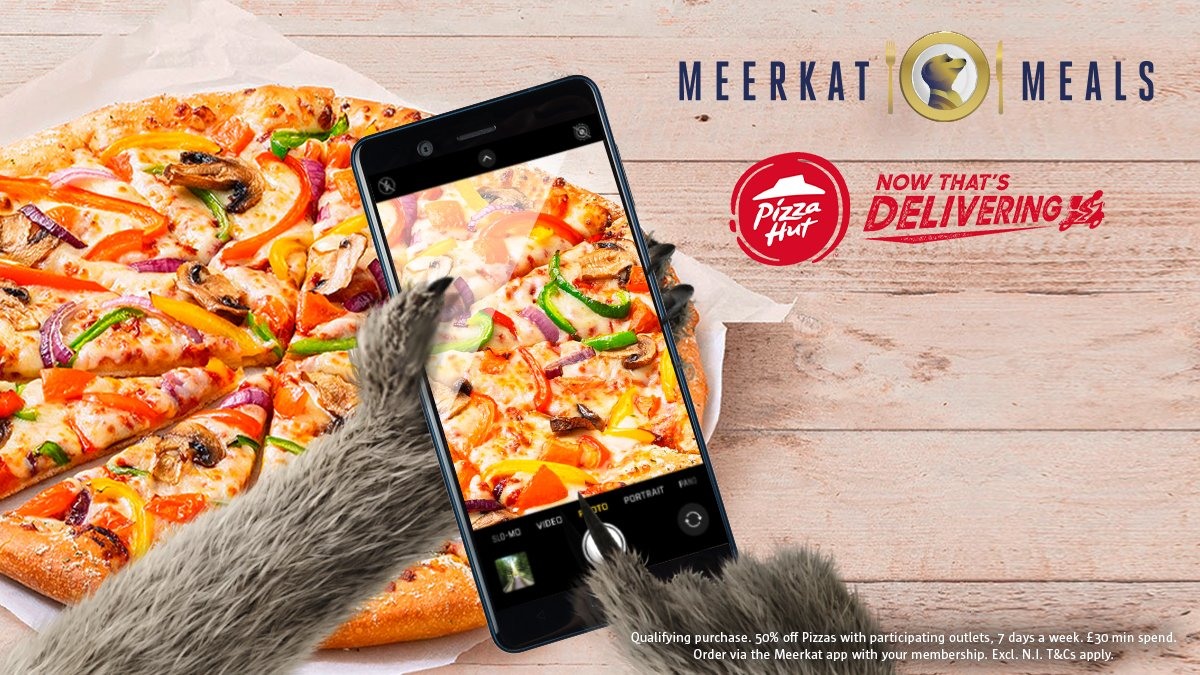 As you can't go out to enjoy your rewards, we'll bring the rewards to you. With 50% off @pizzahutdeliver, 7 days a week for #MeerkatMeals members. #ContactFreeDelivery T&Cs apply. https://t.co/QXHw79mofL https://t.co/aUkrBboZxX