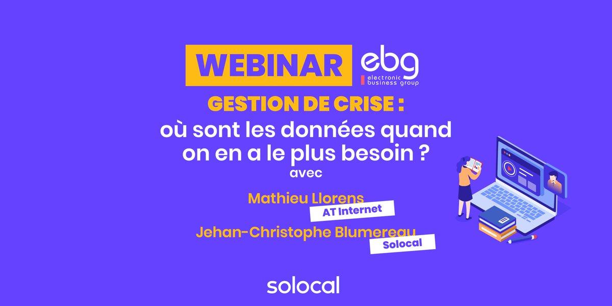 #WEBINAR @jcblumereau interviendra durant ce webinar organisé par @ebg demain de 11h à 12h avec @mathieu_Llorens @AT_Internet. Inscrivez-vous : https://t.co/q21nl1smI7 https://t.co/WDJUBvZ7bp
