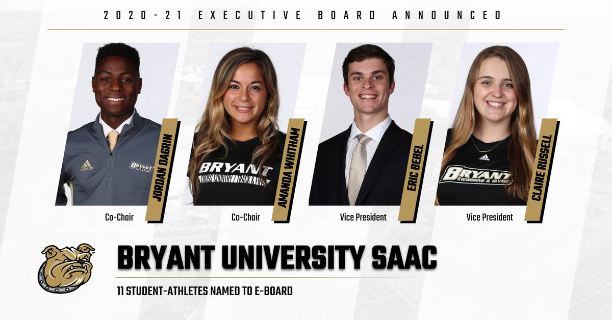 📝 @BryantSAAC has announced the selection of 11 student-athletes to its 2020-21 Executive Board.  ➡️ https://t.co/XtNXHFyQg4 https://t.co/3POmKTp1Vg