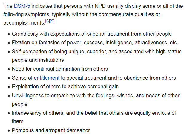 """Well put.""""An inability to engage with anything other than #adulation"""" That is the hall mark of #NPD or #NarcissisticPersonalityDisorder <br>http://pic.twitter.com/vT6cn6rZzd"""