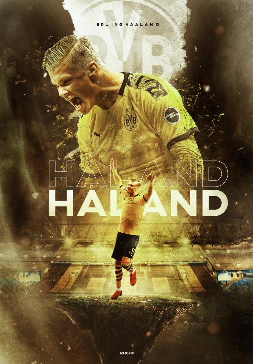 Rhgfx On Twitter Erling Braut Haland The Terminator Of Football Bundesliga Haaland Football Poster Wallpaper Bvb Dortmundusa Dortmund Https T Co 8jmbnvcel2