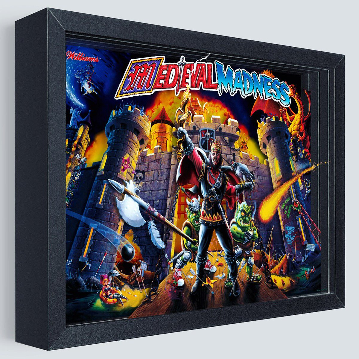 NOW AVAILABLE FOR PRE-ORDER! https://t.co/3qQOpvIxad  Medieval Madness has finally arrived after so many requests for this pinball classic! Grab yours now! Shipping in Late-June  #art #artwork #pinball #medievalmadness #game #arcade #kingdom #castle #drawbridge #battle #destroy https://t.co/v2xPGsZlwV