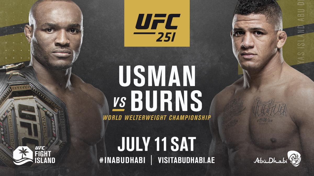 WE'RE COMING! 🏝  🏆 @USMAN84kg vs @GilbertDurinho headlines our debut on #UFCFightIsland.  #UFC251 #InAbuDhabi @VisitAbuDhabi https://t.co/gMfol09TPM
