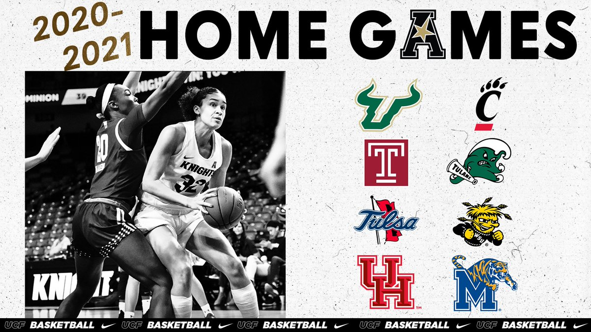 Our 2020-21 @American_WBB schedule matrix has been announced!  Full release: https://t.co/jJSWINdq0J  Who will be coming to  @AdditionFiArena 👇#ChargeOn https://t.co/j8T8OcfTf8