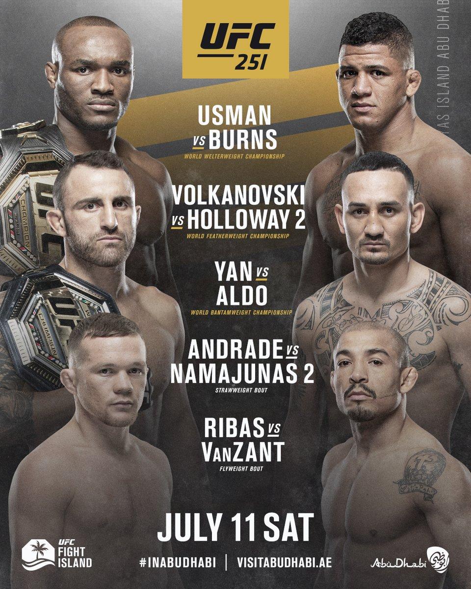 🏆🏆🏆  Coming to #UFCFightIsland... 🏝  #UFC251 #InAbuDhabi @VisitAbuDhabi https://t.co/ZETAXCFx05