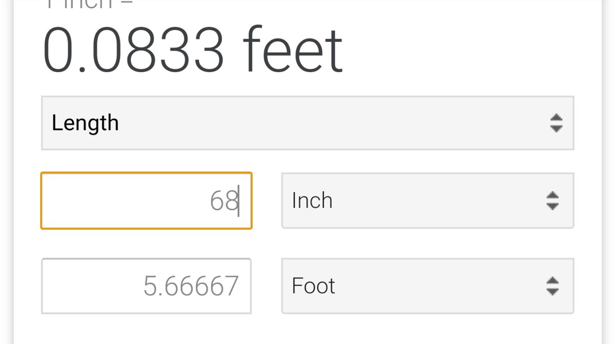 On Twitter It S 68 Inches Bro But 5 8 Is 4 20