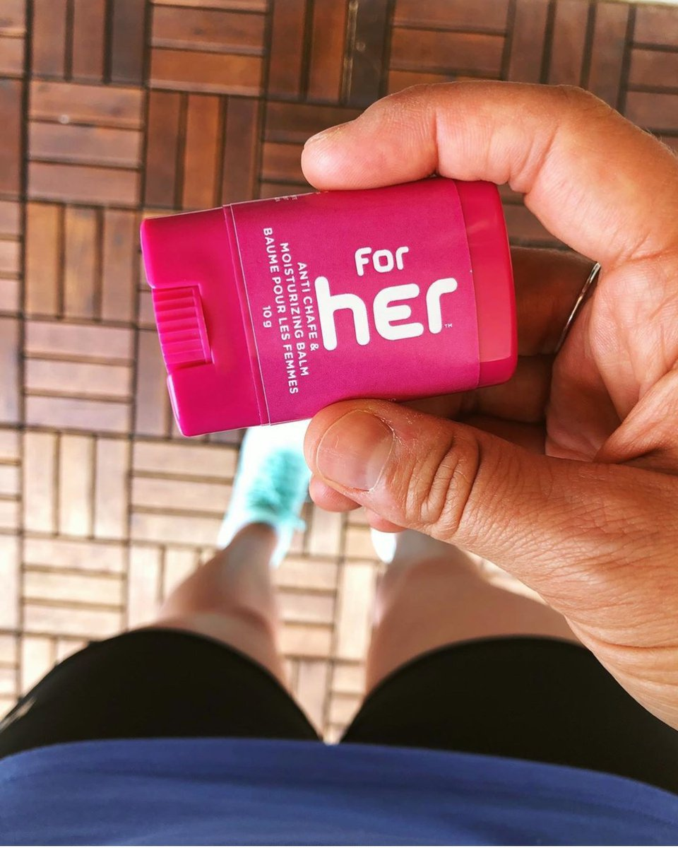 Ready for shorts season indeed! With Body Glide For Her, @apow.runs can say goodbye to thigh chafing. #chafingseason