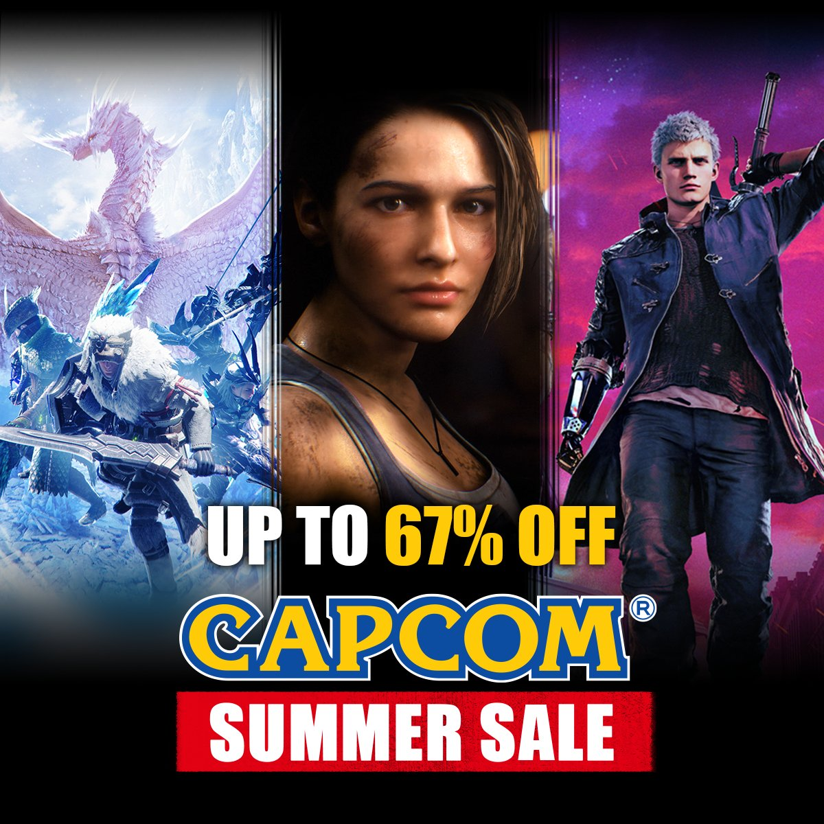 Capcom Summer Sale brings together great games at great prices, now through June 15.  Save big on @RE_Games, @monsterhunter, @DevilMayCry, and more! 🛒 https://t.co/5u15ZIE6D4 https://t.co/hDsBSFg5Tv