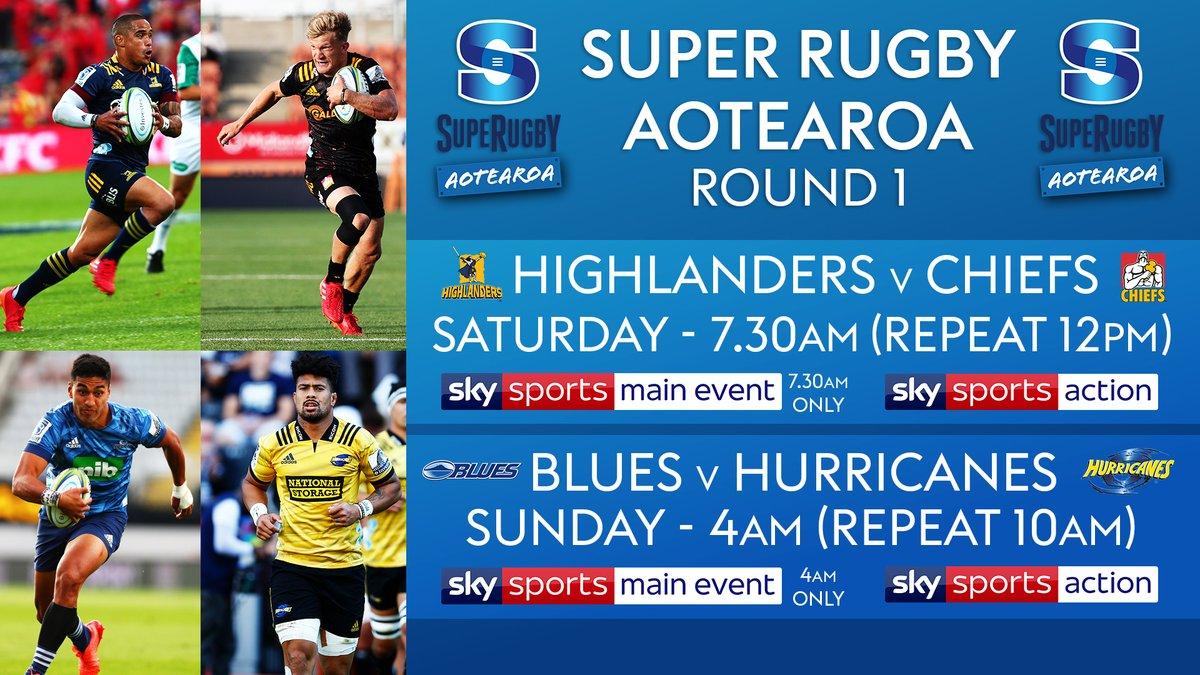 🇳🇿 #SuperRugbyAotearoa 🇳🇿 👇 Round 1⃣ broadcast details 👇