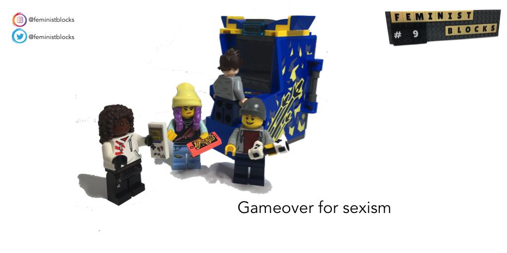 "Feminist Blocks No.9 ""gameover for sexism"" #feministmemes #Feminism #LEGO #legofeminism @WomenGaming @gamingwomenpic.twitter.com/xyK4FHzewt"