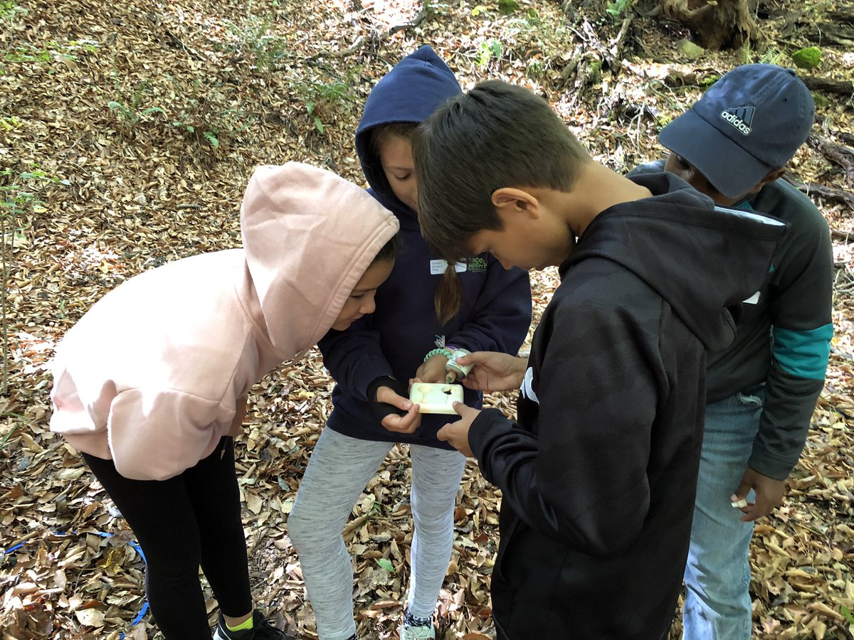 A group of Lincoln Heights Environmental Connections Magnet Elementary School fifth graders conduct soil tests on a field trip at a local environmental education center. @PLTinNC @NorthCarolinaEE @LHECMES @WCPSSElemScie @NCPublicSchools @PoeCenter @naturalsciences #EDGRS2020 https://t.co/9FrxuVVOXm
