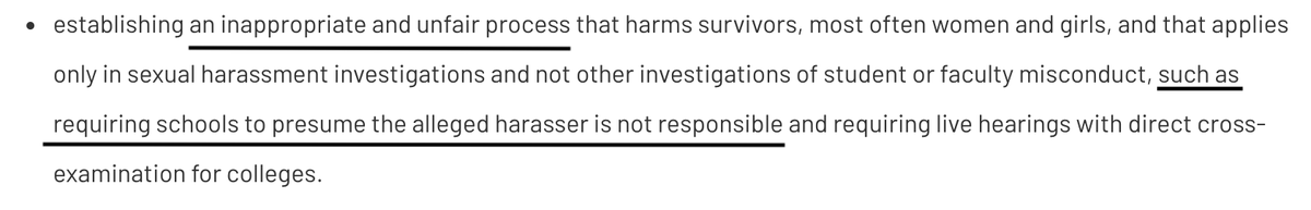 It's pretty astonishing to see a group actually willing to call out the presumption of innocence like this.