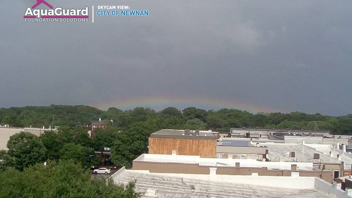 Do you see it? Check out the rainbow from our live tower cam in Newnan! #Storm11