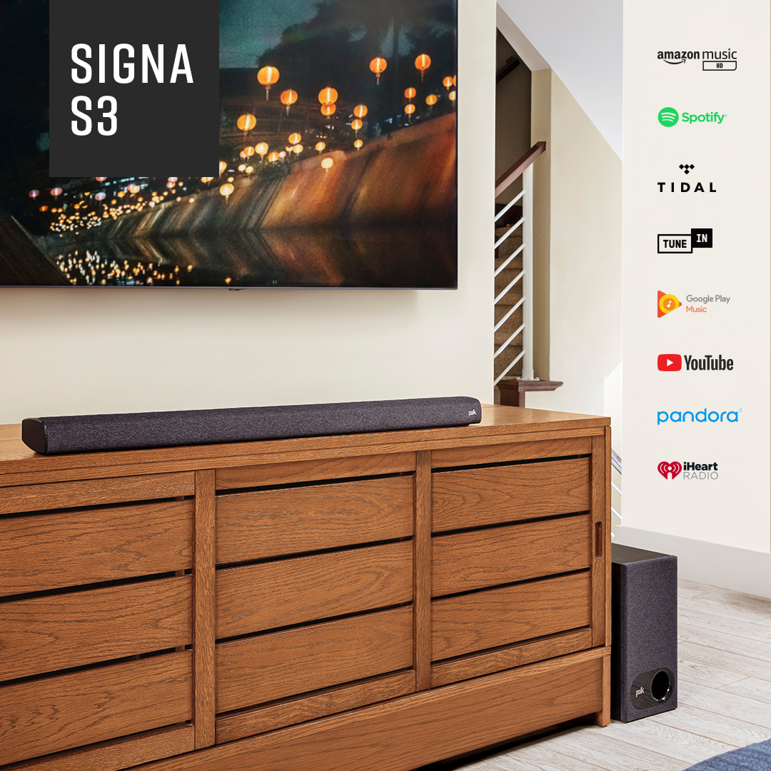 The #bestselling Signa Series just got better. Introducing the new Signa S3 #soundbar system. Make virtually any TV sound incredible with great #virtual 5.1 #surroundsound.  Get your Signa S3 today: https://t.co/AfiMijNvww https://t.co/6Qni2LmeOE