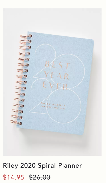 LOL to all the planners on sale right now. '2020. Best. Year. Ever.'