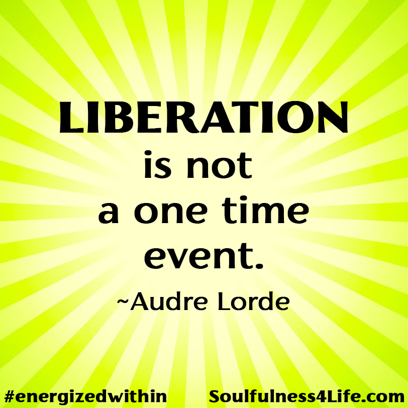 """SOULfirmation: """"LIBERATION–breathe–LIBERATION–breathe –LIBERATION."""" >>>SOULQUESTION: (For Contemplation and Conversation) What can support you to sustain engagement in the work of liberation?  #WednesdayWisdom #quotes #inspiration #meditation #mindfulness #liberation #wellbeing https://t.co/kA8o0OOm2D"""