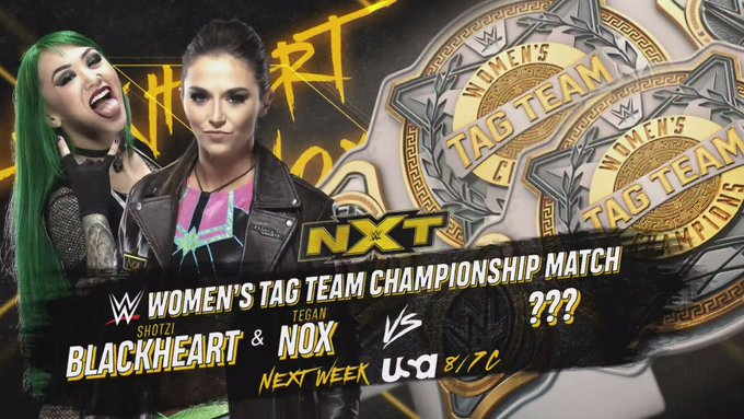 Tegan Nox And Shotzi Blackheart To Challenge For The Women's Tag Team Titles