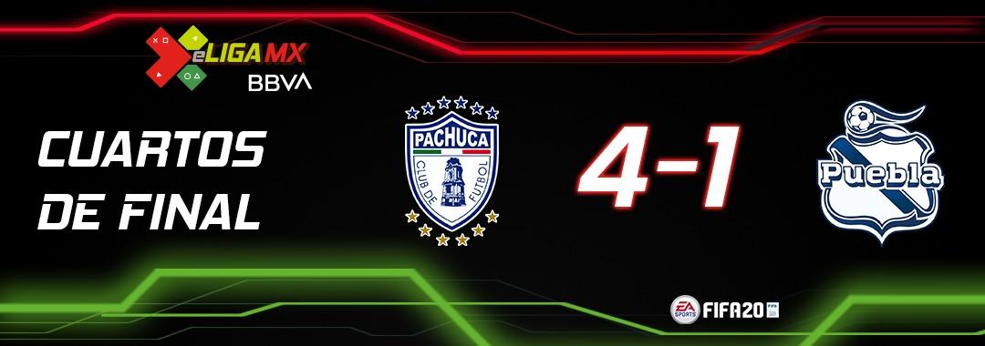 Pachuca Semifinalista  @Tuzos de #TeamÁlvarez avanzó a la #Semifinal de la #eLigaMX, luego de vencer a #Puebla de #TeamOrmeño en el Estadio e-Dalgo. https://t.co/rwvcv6PgsK