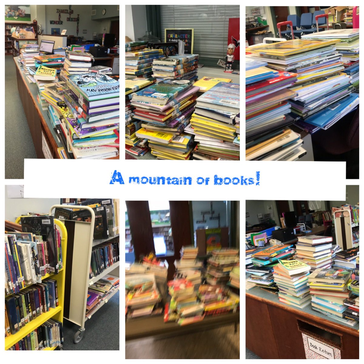 Checked in 1500 books just from today!!! Wow! Good going <a target='_blank' href='http://twitter.com/NTMKnightsAPS'>@NTMKnightsAPS</a>!  Thanks so much to Dave, Christine & Ann for all of your help! 😊<a target='_blank' href='http://twitter.com/NottinghamPTA'>@NottinghamPTA</a> <a target='_blank' href='http://twitter.com/APSLibrarians'>@APSLibrarians</a> <a target='_blank' href='http://search.twitter.com/search?q=KnightsRock'><a target='_blank' href='https://twitter.com/hashtag/KnightsRock?src=hash'>#KnightsRock</a></a> <a target='_blank' href='https://t.co/TUKVqTjJ7a'>https://t.co/TUKVqTjJ7a</a>