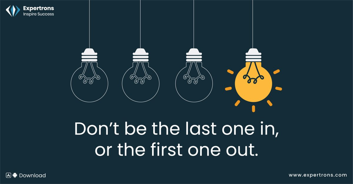 Being the first in and last out isn't just about the hours you spend at work, it is a sign of professionalism. Follow Expertrons for more amazing insights, link : https://t.co/Jx95e6BCro  #progressive #careerhacks #growthmindset #inspiresuccess #expertrons #professionalgrowth https://t.co/eIsUUSUZcv