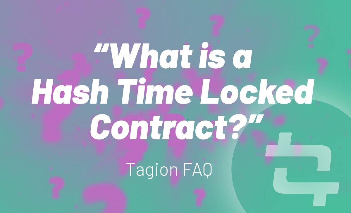 What is #HTLC? A Hashed Timelock Contract is a type of smart contract used in cryptocurrency channels to eliminate counter-party risk. Yes - but what good does it do? Share your thoughts:  Telegram Chat:https://t.co/nrAowO4GL8  #faq #altcoin #tagion #Bitcoin #cryptocurrencies https://t.co/ZwVLn1ZNbi