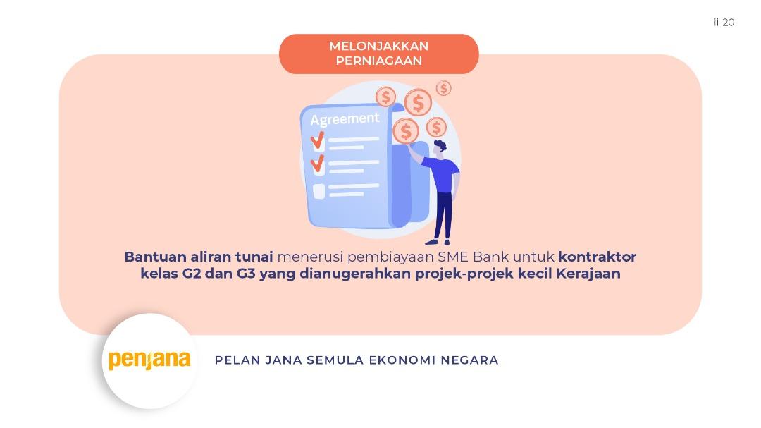 Jabatan Penerangan Malaysia On Twitter Bantuan Aliran Tunai Menerusi Pembiayaan Sme Bank Untuk Kontraktor Kelas G2 Dan G3 Yang Dianugerahkan Projek Projek Kecil Kerajaan Sumber Mofmalaysia Bersamamenjanaekonomi Penjana Kitateguhkitamenang
