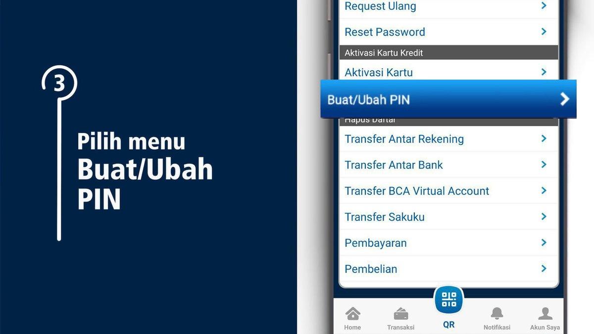 """Scroll ke bawah pada m-Admin lalu pada bagian """"Aktivasi Kartu Kredit"""" pilih """"Buat/Ubah PIN"""". Buat PIN dengan 6 angka kemudian ulangi, setelah itu tekan tombol """"Send"""" di bagian atas. https://t.co/qHbuaQRAor"""