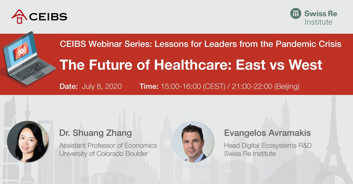 On July 8, join @CUBoulder Prof Shuang Zhang + @SwissRe Institute's Evangelos Avramakis as they discuss why different #healthcare systems reacted so differently to the #coronavirus + how the health sector will be affected going forward. Find out more here https://t.co/CXJTOr5ySR https://t.co/og8VMfAENG