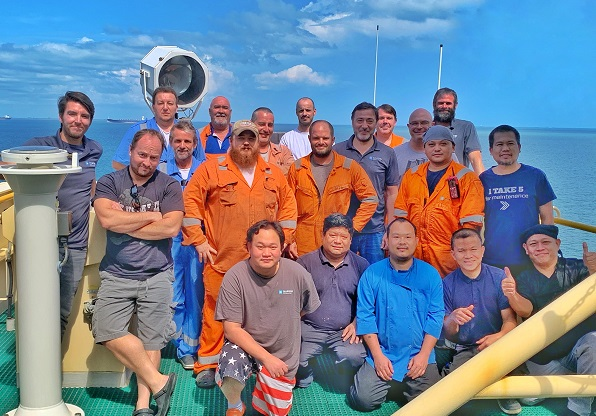 On #TeamViking, many of our dedicated crew members have volunteered to stay onboard for extended shifts to reduce risk of virus transmission and safeguard  #drilling operations. Passionate & committed colleagues are the game changer in times like these! #MaerskDrilling #Thankyou https://t.co/aod8srkoWj