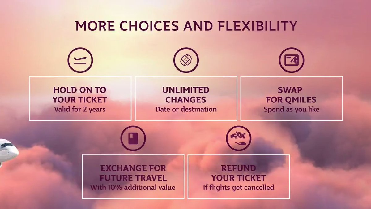 Swap your ticket for Qmiles that you can redeem for up to three years. #RelyOnUS #QatarAirways