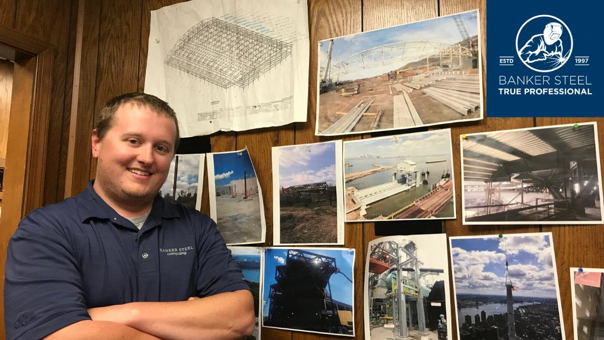 Banker Steel True Professional, Cody Mann, is a 9-and-a-half-year industry veteran, with all his experience spent at Banker! Cody, a senior project coordinator, loves the fast-paced work as well as the ability to collaborate with a variety of teams to see a project come together.