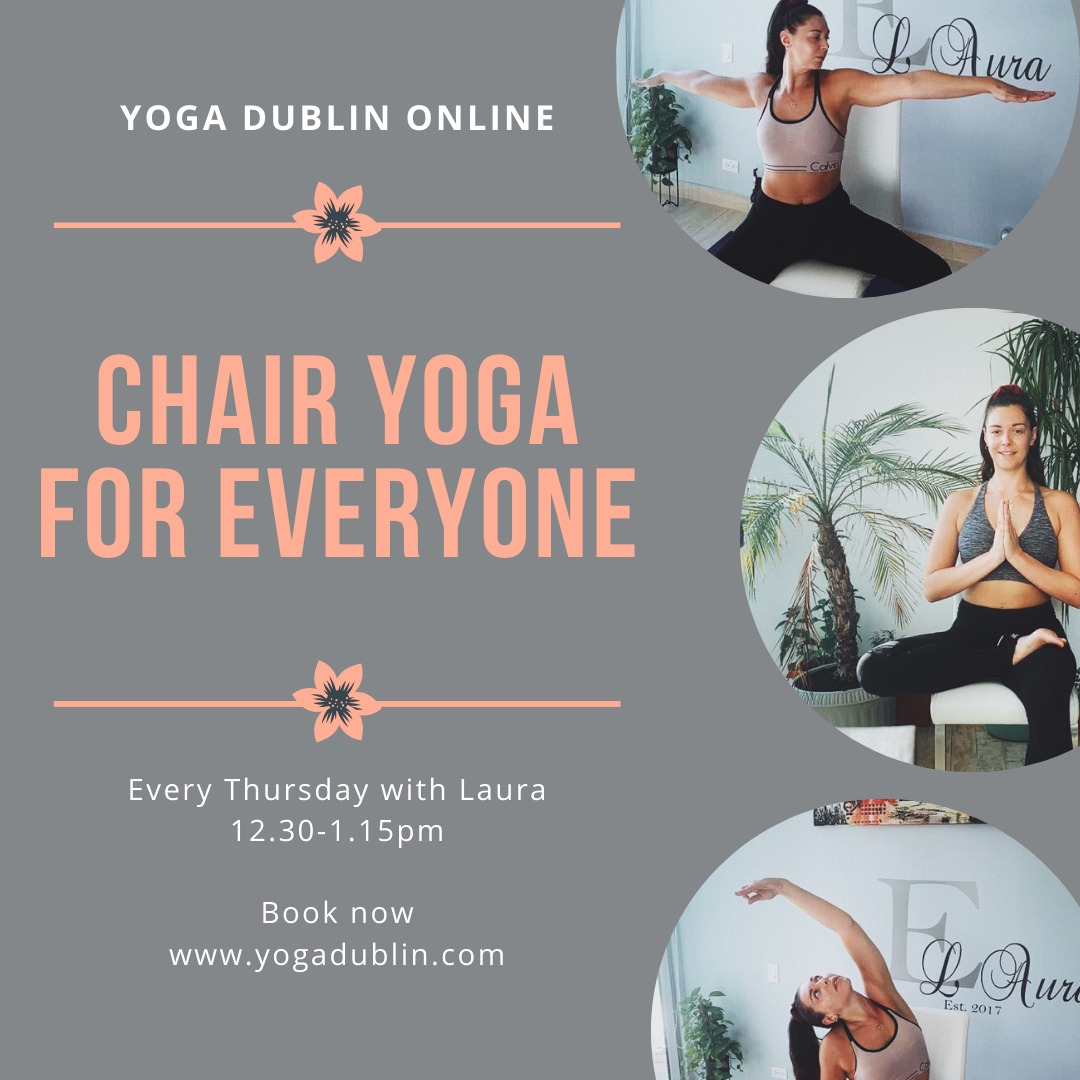 **CHAIR YOGA FOR EVERYONE** 45-minute class with yoga teacher Laura, TODAY and EVERY THURSDAY at 12.30-1.15pm. Book now for today's class at https://t.co/IvKBvEimM6 #yogadublin #deskwork  #relax #rejuvenate #body  #movement #theraputic #yogaclass #thursdays https://t.co/9kJjGuGNTA