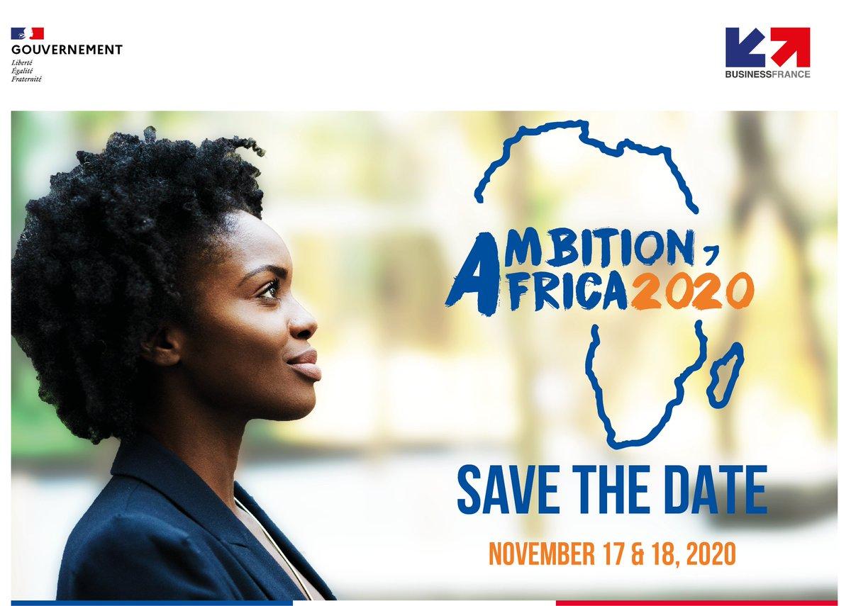 📣 SAVE THE DATE  Rdv les 17 et 18 Novembre 2020 pour la 3e édition d'Ambition Africa à Paris !  See you on the 17th & 18th of November 2020 for the 3rd edition of Ambition Africa!  For more information on registrations / Pour plus d'informations 👉 https://t.co/RnU3EkSSZe https://t.co/so1uXItVIZ