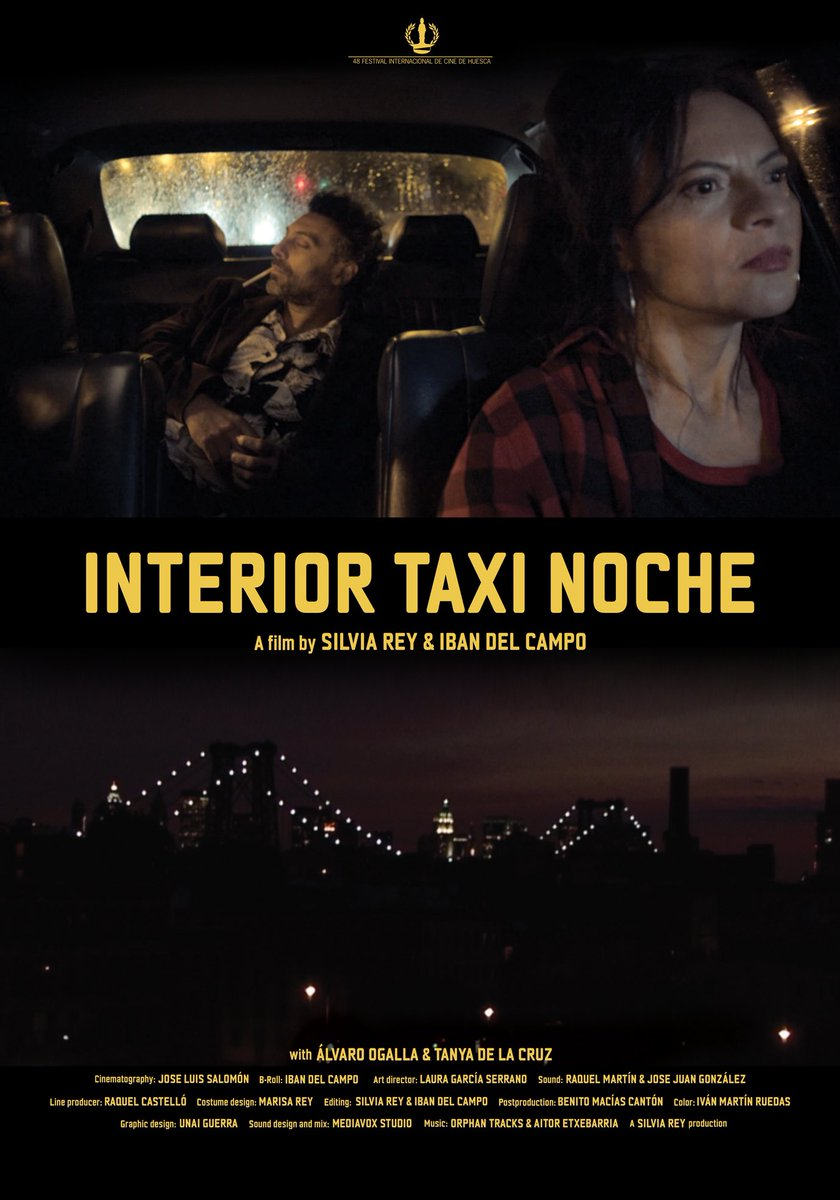 """Silvia Rey eta Iban Del Camporen film berriaren musika konposatu dut. Estreinua Larunbatean Hiff en.  """"Based on a personal experience of one of the directors, the film is an ironic tribute to the famous hidden camera television show """"Taxicab Confessions"""", and to New York City. https://t.co/A3ouZo5EI3"""