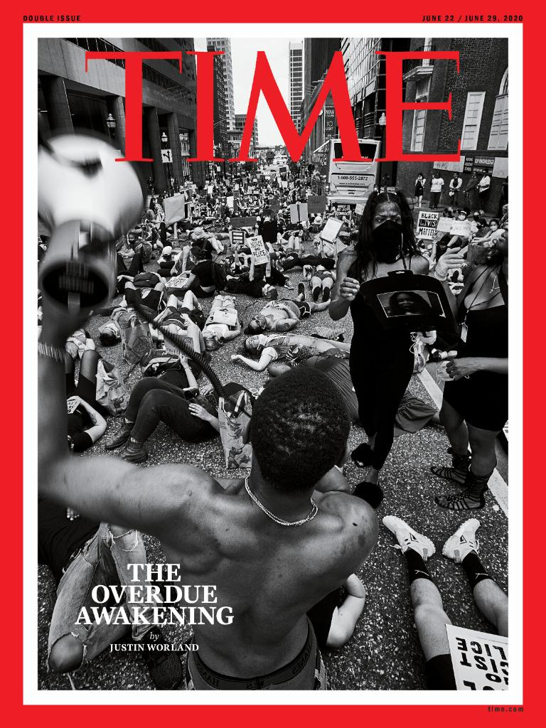 Replying to @TIME: TIME's new cover: America's long overdue awakening