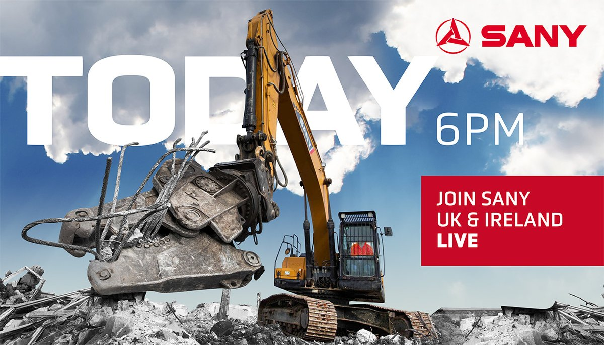 Today at 6pm GMT+1!  Wanna hear more from industry insiders? Then take a look at SANY's LIVE interview with Mark Anthony, an experienced career journalist and Britain's foremost writer in the construction field. Join us on SANY UK&Ireland Facebook page: https://t.co/TvaPwGrxa4 https://t.co/aDGoiYWbFB