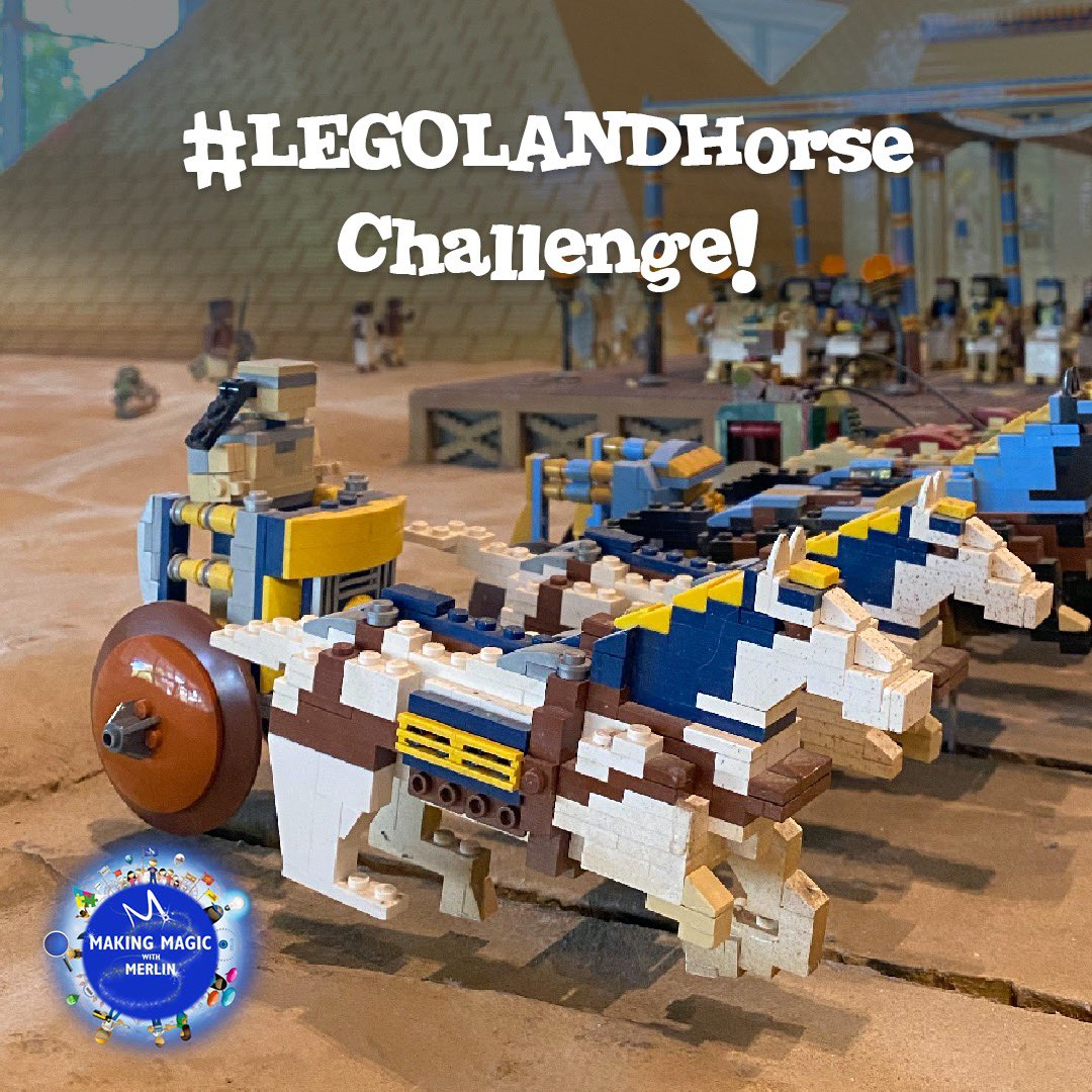 Are you ready to head to Ancient Egypt in MINILAND for this week's building challenge?  We want you to create your own version of the #LEGOLANDHorse at home and can't wait to see your creativity and creations come to life! #MakingMagicwithMerlin https://t.co/n4JPgDrZkN
