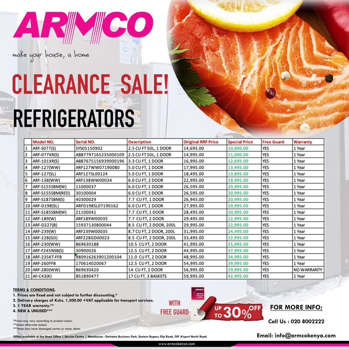 Armco Kenya Limited On Twitter The Armco Refrigerators Clearance Sale Is Here Enjoy Up To 30 Off On Selected Products Visit Https T Co Vzicfrtdqp To View Our Full Range Of Electronic Products In Kenya