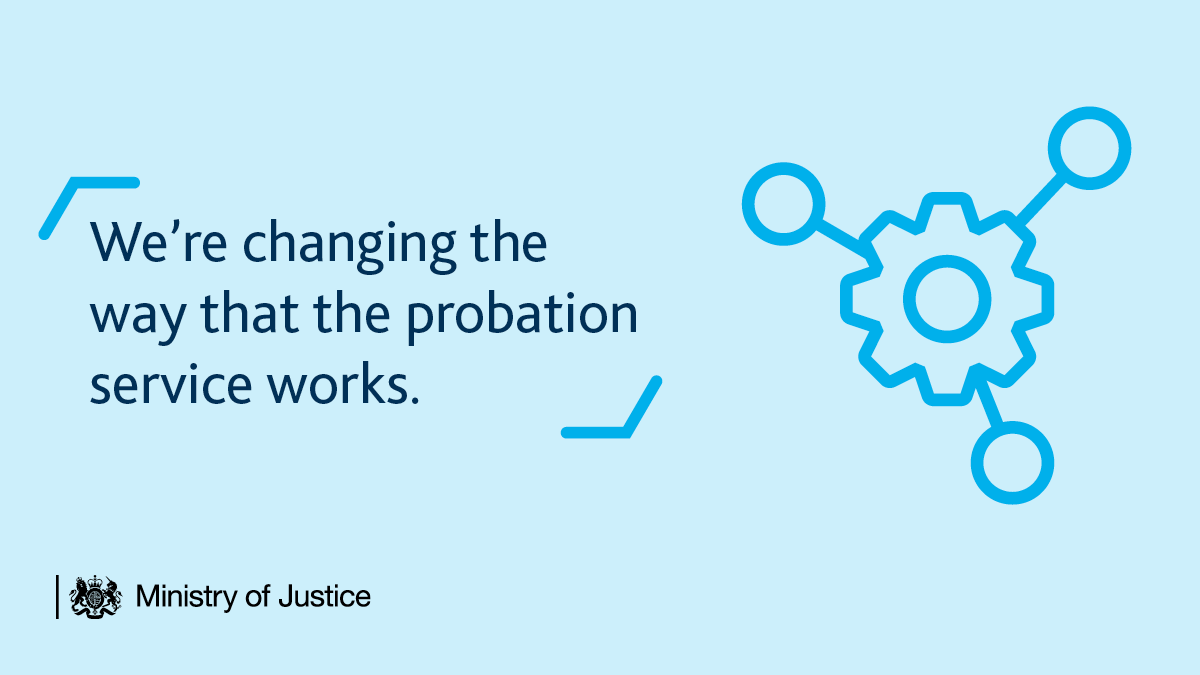 We're changing the way that the probation service works.  From June 2021, unpaid work and behavioural change programmes will be delivered by @HMPPS, making it easier for us to strengthen community sentences and reduce reoffending.  Read more: https://t.co/NRFq9g1WD5 https://t.co/FSnadKcNOI