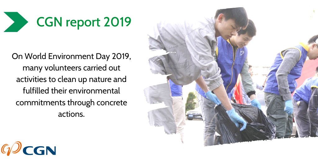 [CGN report 2019] On World Environment Day 2019, Hongyanhe Nuclear planned and carried out a series of thematic activities to raise awareness of environmental protection and engage more people to participate. https://t.co/LVKslKYHxI
