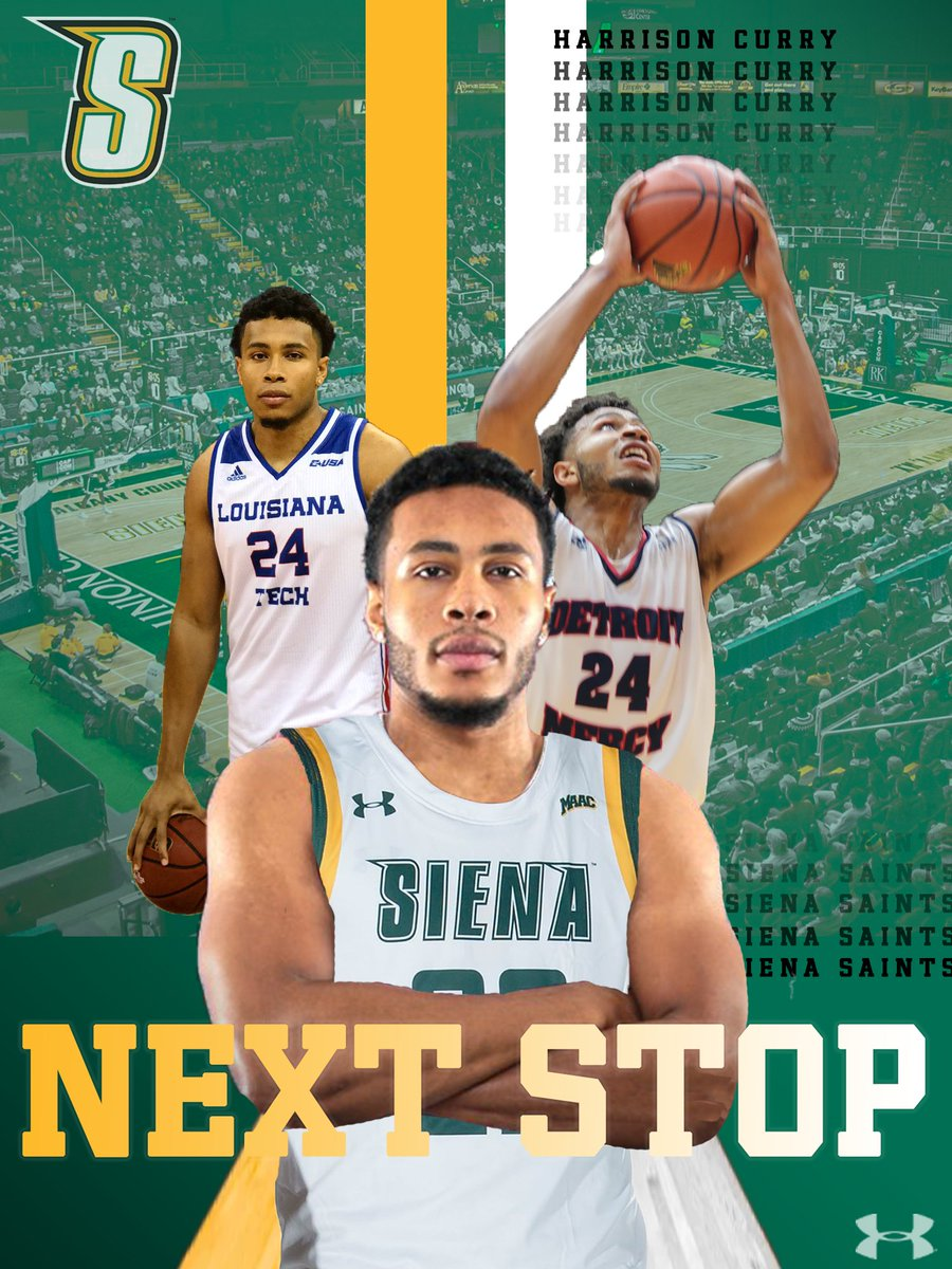 📝 OFFICIAL @SienaMBB Welcomes Graduate Transfer Harrison Curry 📰 bit.ly/3cTiADt #MarchOn #SienaSaints #MAACHoops #NCAAM #Attack #Finish #EAT