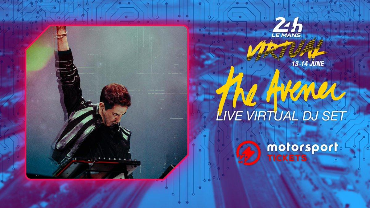 🎧@TheAvenerMusic will be performing a virtual DJ set live on Saturday night for #LeMans24Virtual! 🎼  @msporttickets #LeMans24 #WEC https://t.co/wyjcJSPZSL