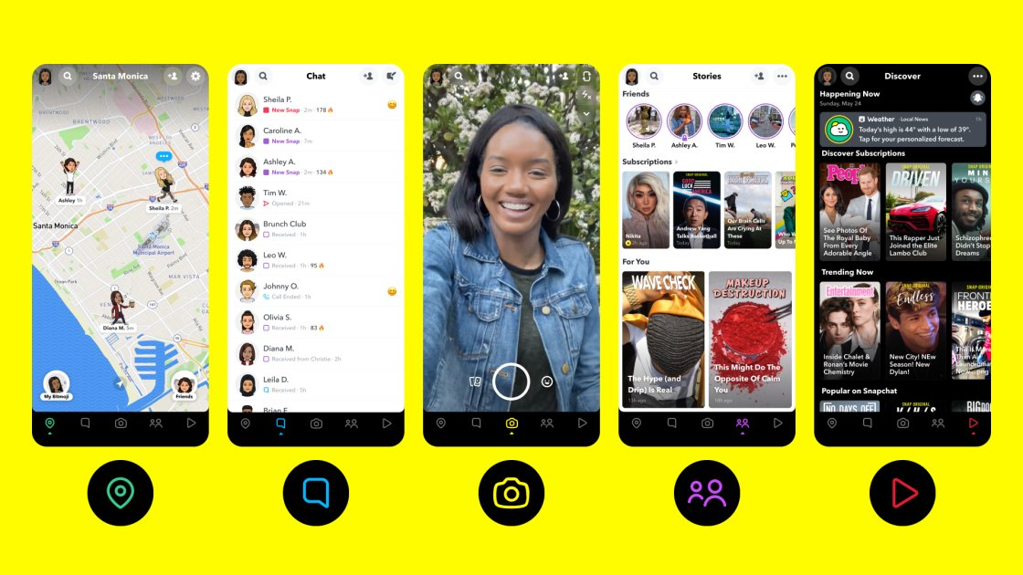 Snapchat redesign highlights the map and original content