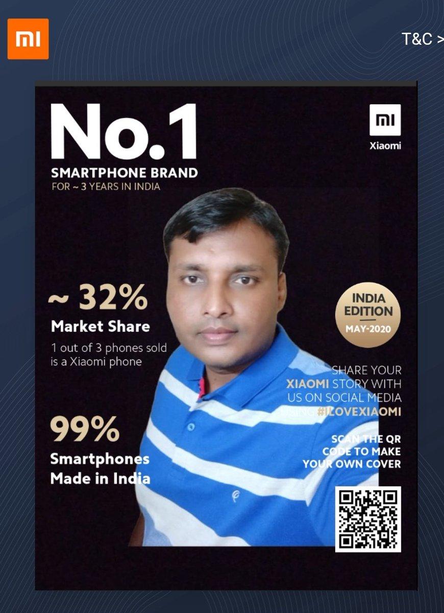 Here is My Entry For The No.1 Mi Smartphone Brand Magazine Cover Challenge   #MagazineCoverChallenge #1BrandXiaomi #ILoveXiaomi #Xiaomi #xiaomiindia #Magazine #Covers  @XiaomiIndia @manukumarjain Join @kambleshankar17  @Vikrammane55  @ShailajaMane2pic.twitter.com/cKEjDNWxhW