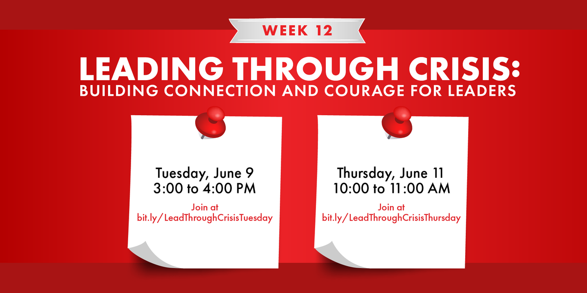 Your next chance to join the conversation is at 10am today! #ConnectedCommunity bit.ly/LeadThroughCri…