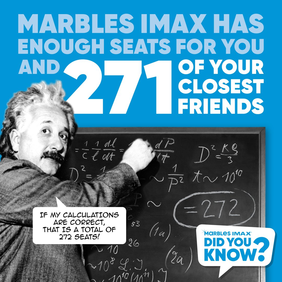 Did you know that Marbles IMAX has 272 seats? That gives us plenty of room for social distancing when we reopen! Seeing a movie in an IMAX® theater is so much more than just watching a movie, it's an experience.   #MarblesIMAX #IMAX #GiantScreen #Documentary #Movies #DidYouKnow https://t.co/ekinLBLIC9