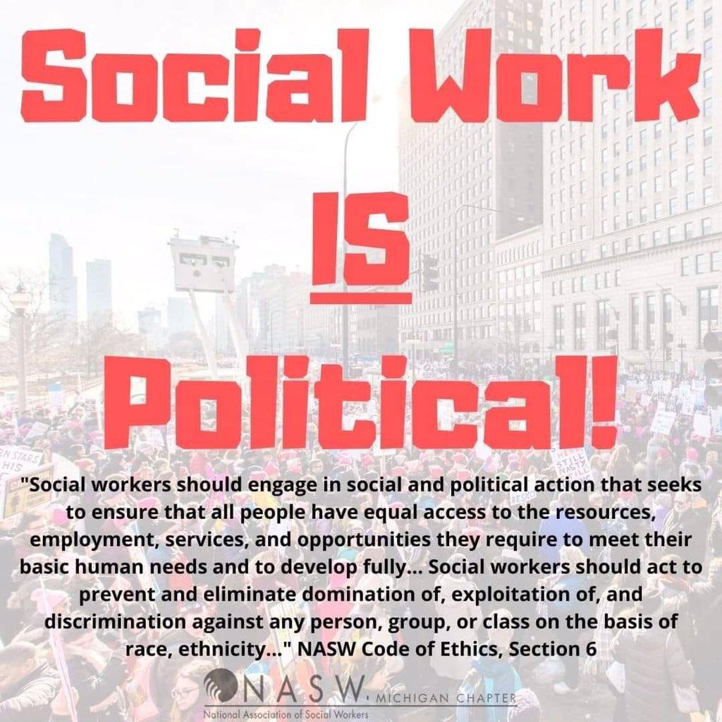 #PoliticalSocialWork cc: @UH_SocialWork @suzannepritzker Repost from: @NASWMI
