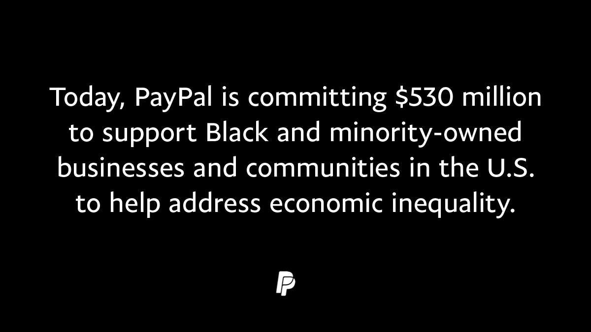 Today, PayPal's CEO Dan Schulman shared details on our commitment to fight economic inequality. #BlackLivesMatter
