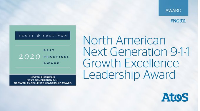 Atos Public Safety LLC  has been recognized by @Frost_Sullivan with the 2020 North America...